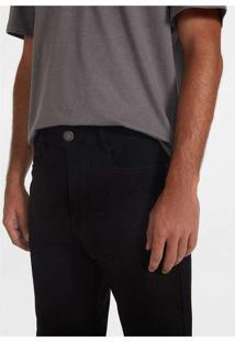 Bermuda Masculina Em Sarja Texturizada Preto