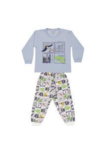 Pijama Infantil Moletinho Brilha No Escuro Supersaurus Dadomile-8
