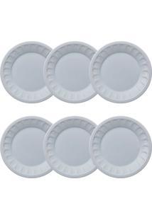Conjunto Pratos Para Sobremesa 06 Peças Pingada - Germer - Branco