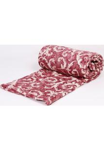 Manta King Size Estampada Corttex Home Design Vinho U
