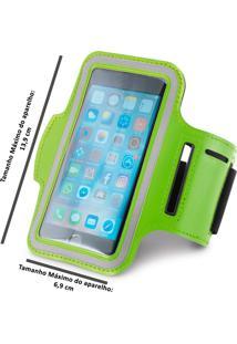 Braçadeira Esportiva Para Smartphone 5 Verde
