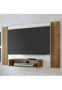Painel Para Tv Até 40 Polegadas Cine Flex Off White/Pinho/Ripado - Artely
