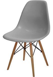 Cadeira Eames Polipropileno Cinza Base Madeira - 24130 - Sun House