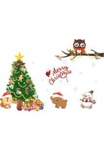 Adesivo Divanet De Parede Natal Colorido Branco