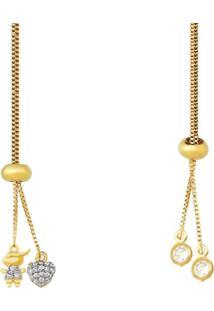 Colar La Madame Co Colar Gravatinha Dourado