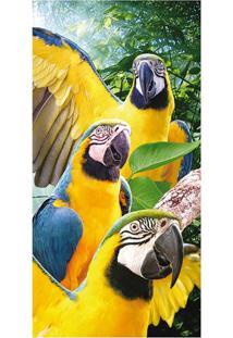 Toalha De Praia Mult Macaws- Amarela & Verde- 70X150Buettner