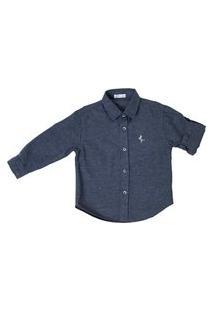 Camisa De Flanela Infantil Lazy Cinza Escura