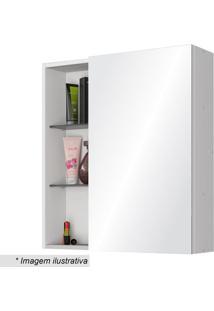 Espelheira Nancy Com Porta- Branca- 60X54X15,2Cmbechara