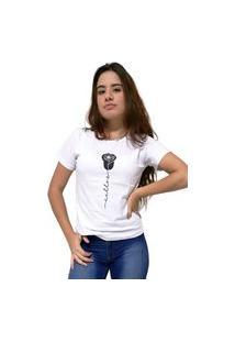 Camiseta Feminina Cellos Rose Premium Branco