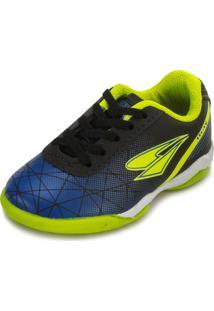 Tênis Futsal Drayzinho Dr18-114Co Preto-Azul-Verde 064364c1de712