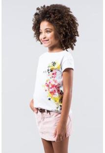 Camiseta Infantil Pica-Pau Estrelas Reserva Mini Feminina - Feminino