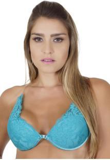 e9abaea4d Sutiã Nadador Click Chique Invisível Tule Azul