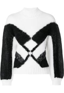 Alberta Ferretti Camisa Polo Com Aplicação Geométrica - Branco