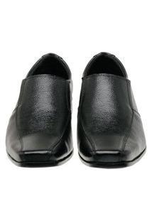 Sapato Social Masculino Couro Liso Conforto