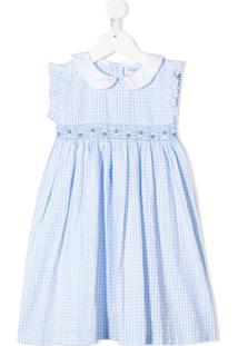 Siola Vestido Com Estampa Xadrez - Azul