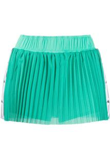 Kappa Pleated Perforated Shorts - Verde