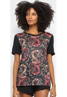 Camiseta Cavalera Tee Classic Dragões Feminina - Feminino-Caramelo