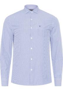 Camisa Masculina Listrado - Branco
