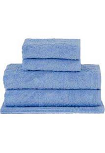 Jogo De Toalhas De Banho Com 05 Peças Mosaico Azul - Buddemeyer