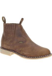 3fd6e44af7c84 Bota Couro Urbana Boot Masculino - Masculino-Marrom Claro