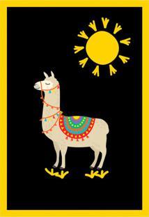 Quadro Decorativo Sloan Preto E Amarelo
