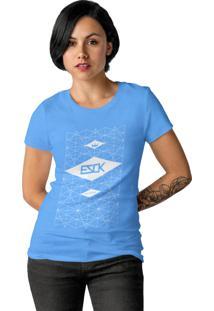 Camiseta Ezok Skate Lane Azul Claro