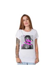 Camiseta Stoned Pink Art Branca