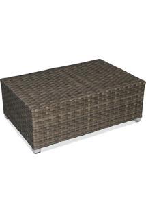 Mesa De Centro Carajás Área Externa Fibra Sintética Estrutura Alumínio Eco Friendly Design Scaburi