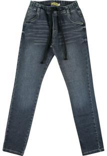 Calã§A Look Jeans Moletom Jeans - Azul - Menino - Dafiti