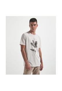 Camiseta Comfort Estampa Café | Marfinno | Cinza | Gg