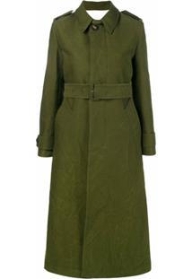 Ami Paris Trench Coat Clássico - Verde