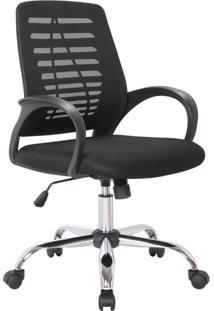 Cadeira De Escritório Secretária Giratória Light Preta