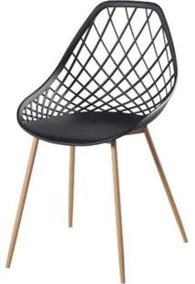 Cadeira Frank Preta Pes Bege - 50067 - Sun House