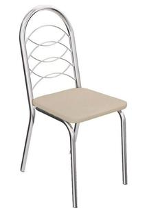 Cadeira Kappesberg Holanda 2C009Cr (2 Uni) Cromada/Nude