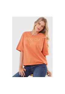 Camiseta Colcci Lettering Laranja