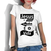 22457a0c3a Camiseta Criativa Urbana Gospel Evangélica Religiosa Jesus - Feminino