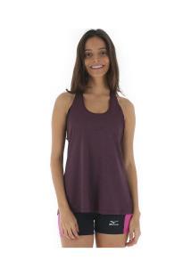 Camiseta Regata Com Proteção Solar Uv Mizuno Liberty - Feminina - Rosa Claro a637b846594