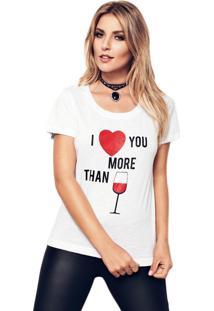 Camiseta Myah I Love You More Branco