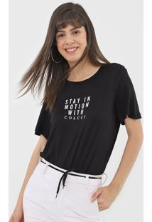 Camiseta Colcci Motion Preta - Preto - Feminino - Viscose - Dafiti