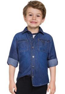 Camisa Masculina Azul
