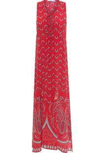 Vestido Borlas Àtica - Vermelho