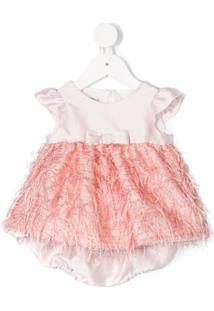 La Stupenderia Vestido Com Franjas - Rosa