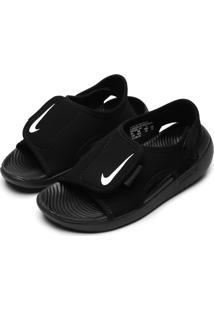 Sandália Nike Infantil Logo Preta