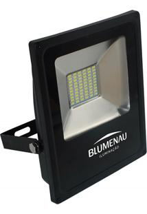 Refletor Led 30W Bivolt 6000K Slim Preto Luz Branca