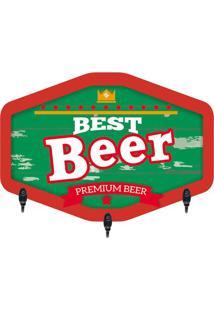 "Porta Chaves ""Best Beer""- Verde Escuro & Vermelho- 2Kapos"