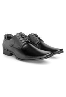 Sapato Social Rafarillo Las Vegas Masculino Couro Conforto Preto 37 Preto