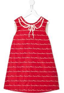 Emporio Armani Kids Vestido Com Logo - Vermelho