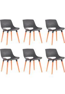 Kit 6 Cadeiras Decorativas Para Salas E Cozinhas Livclean (Pp) Cinza - Gran Belo - Cinza - Dafiti