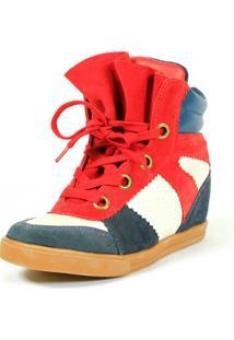 Tênis Caráter Sneaker Qix Higher Vermelho E Azul