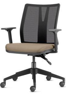 Cadeira Addit Assento Crepe Bege Com Base Piramidal Em Nylon - 54116 Sun House